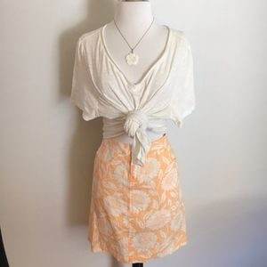 TOMMY BAHAMA Linen Floral Skirt Size 4